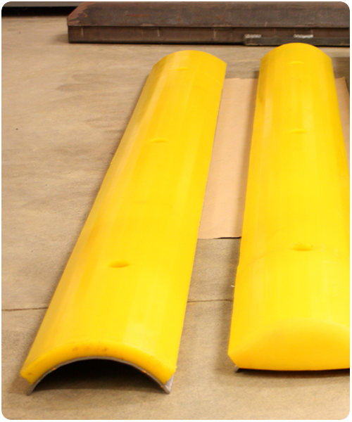 Bonding polyurethane to steel and polyurethane parts supplier.